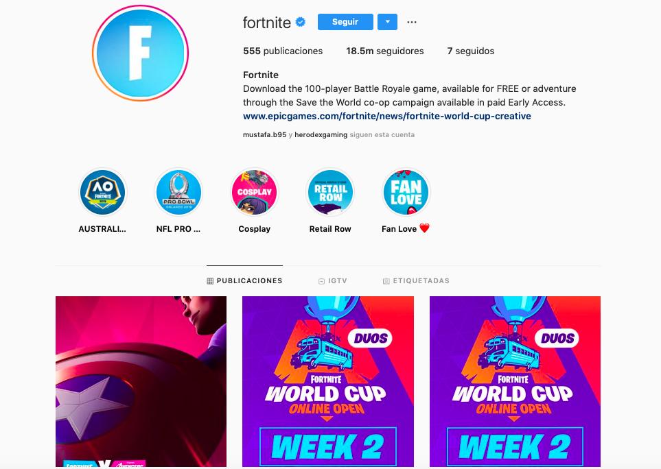 Comunidades de marca con más seguidores en la generación Alpha: Fornite