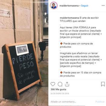 Consejos para escribir en Instagram