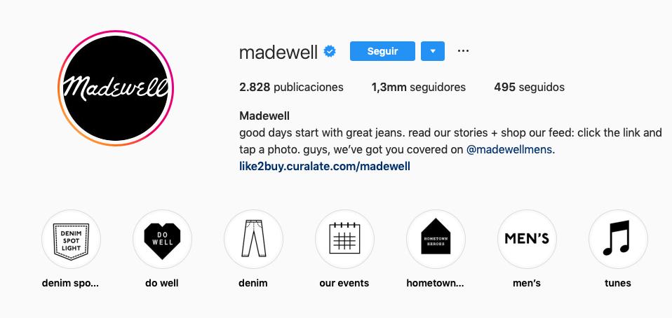 Comunidades de marca con más seguidores en la generación Alpha: Madewell