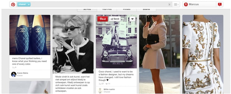 Performance marketing para el sector de lujo Pinterest