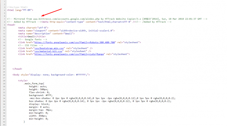 Phishing en Google Ads TRACKING