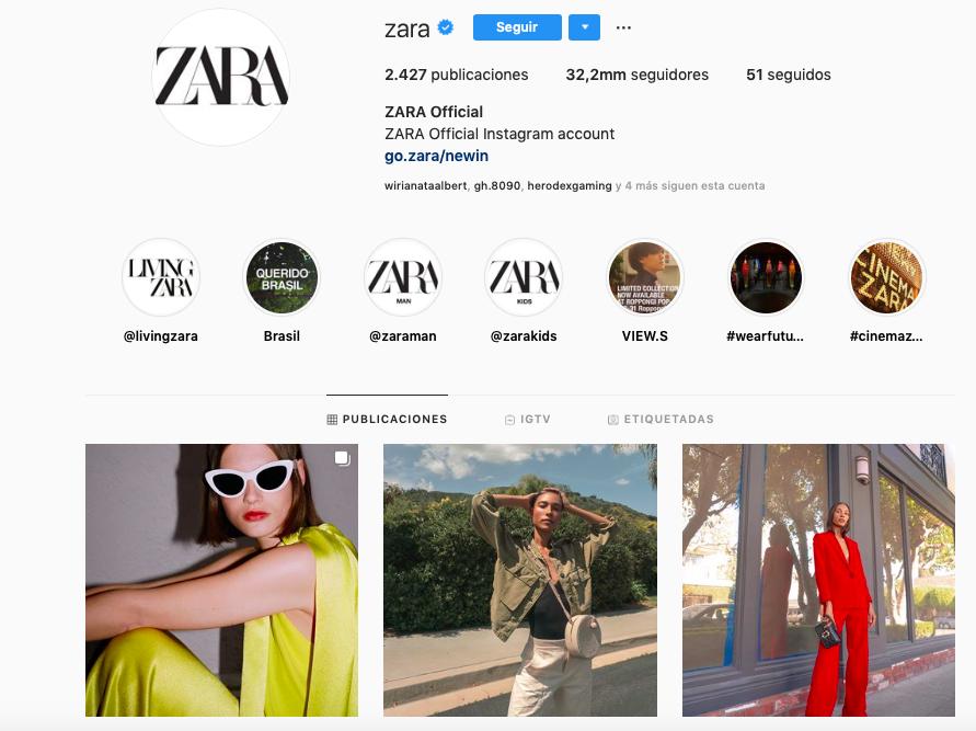 Comunidades de marca con más seguidores en la generación Alpha: Zara