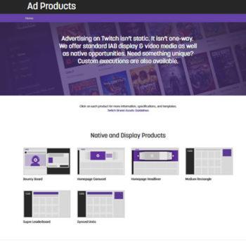 campaña de publicidad en Twitch