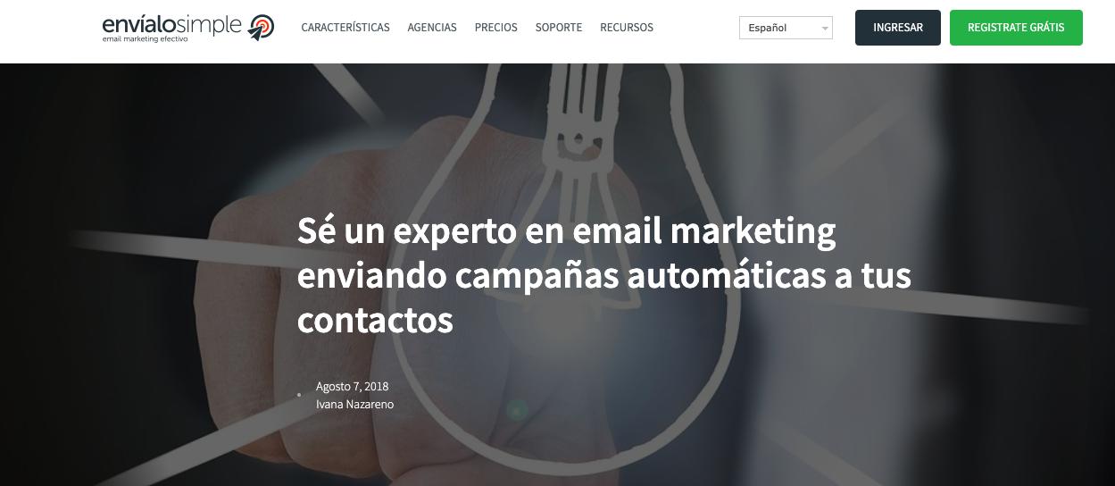 blogs de Email Marketing Automation en LATAM: Envíalo Simple