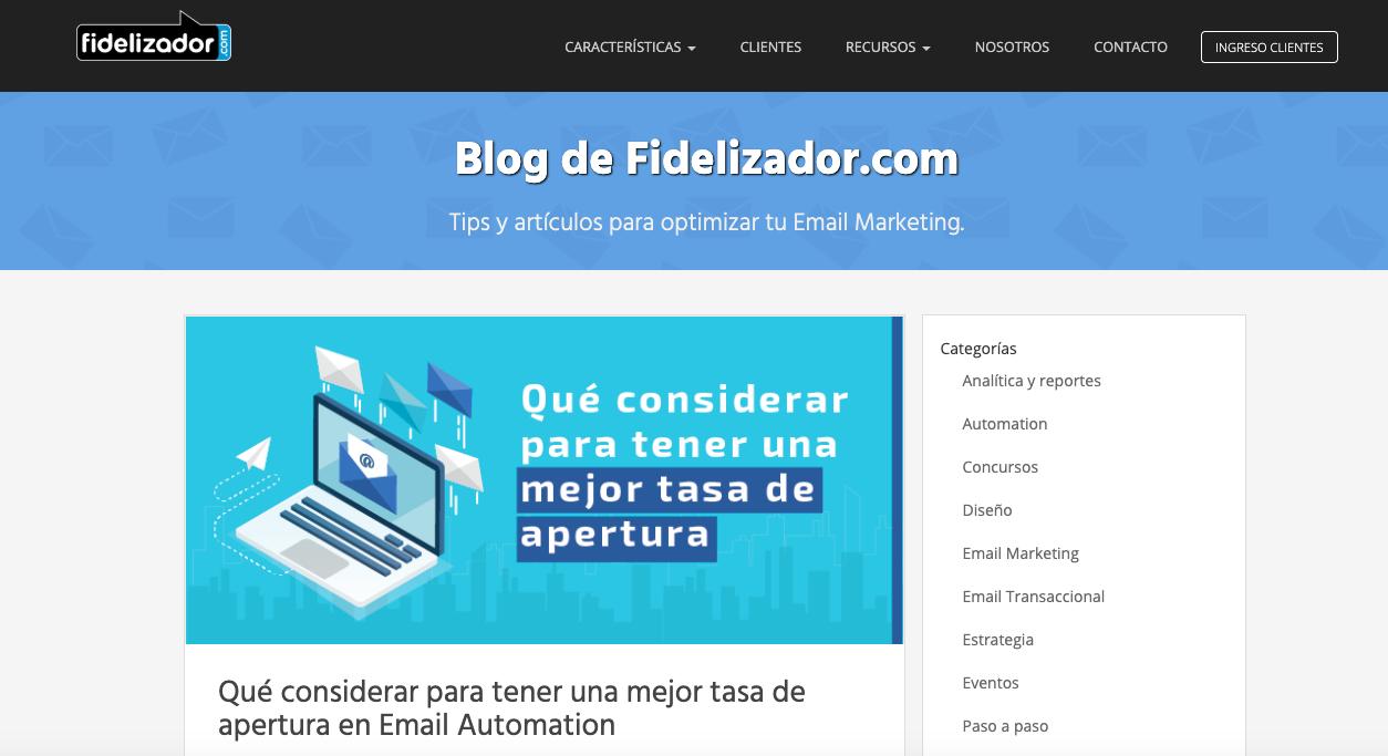 blogs de Email Marketing Automation en LATAM: Fidelizador