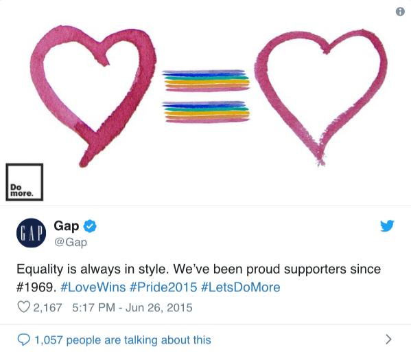 campañas de publicidad del Orgullo Gay Gap