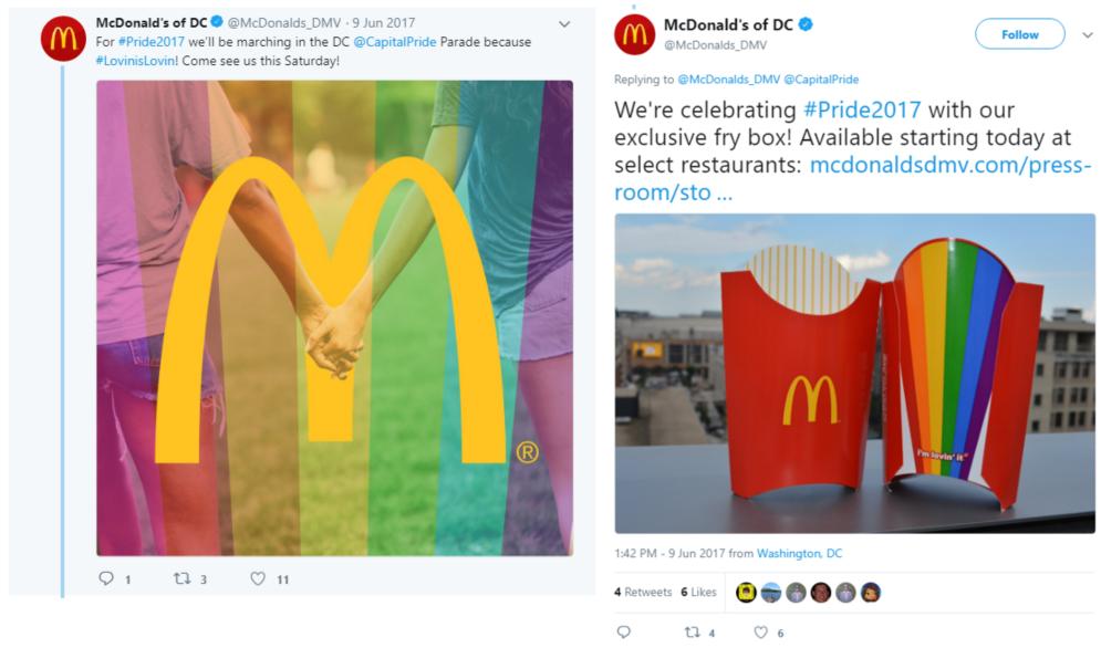campañas de publicidad del Orgullo Gay mcdonadls