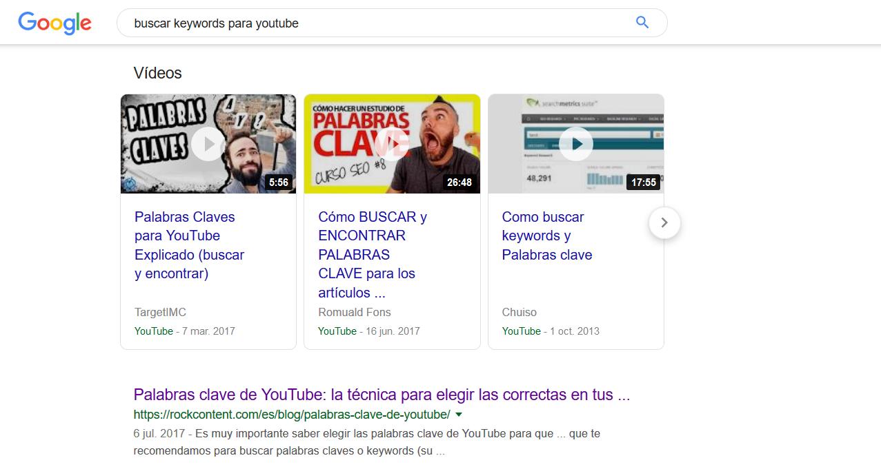 Resultados de vídeo de Google