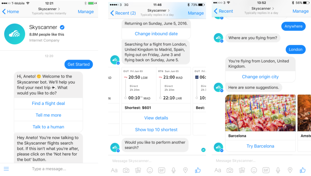 Chatbot Skyscanner