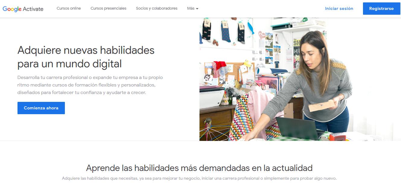 cursos y congresos gratuitos de marketing en Latinoamérica: Garaje Activate