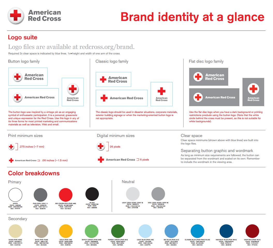 qué es el brandbook: Cruz Roja