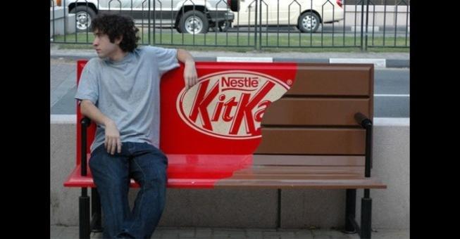 Street marketing de Kit Kat