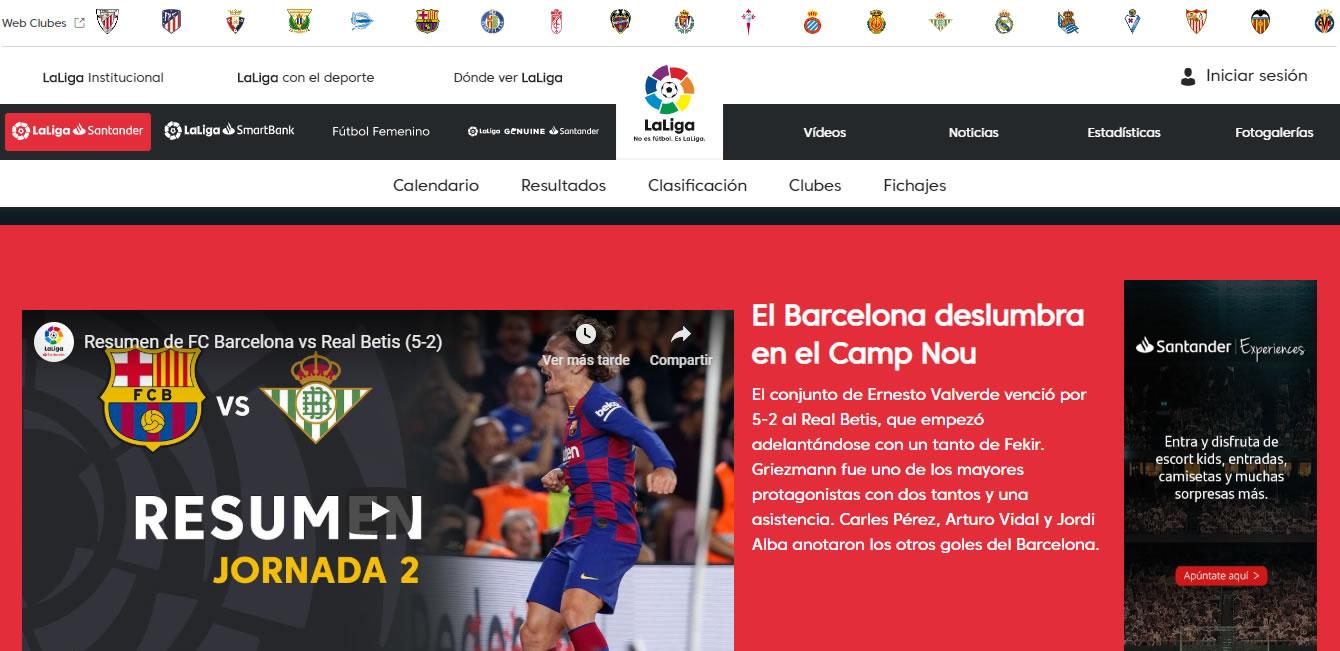 marketing financiero: La Liga Santander