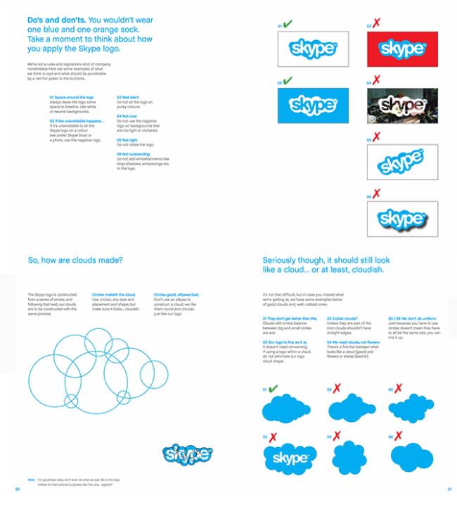 qué es el brandbook: Skype