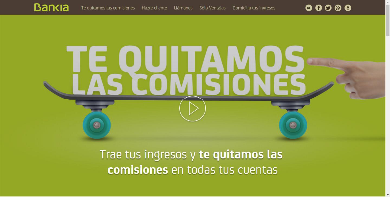 marketing financiero: Bankia