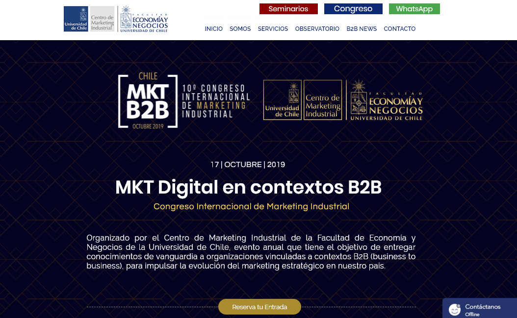 Chile: Congreso Internacional de Marketing Industrial