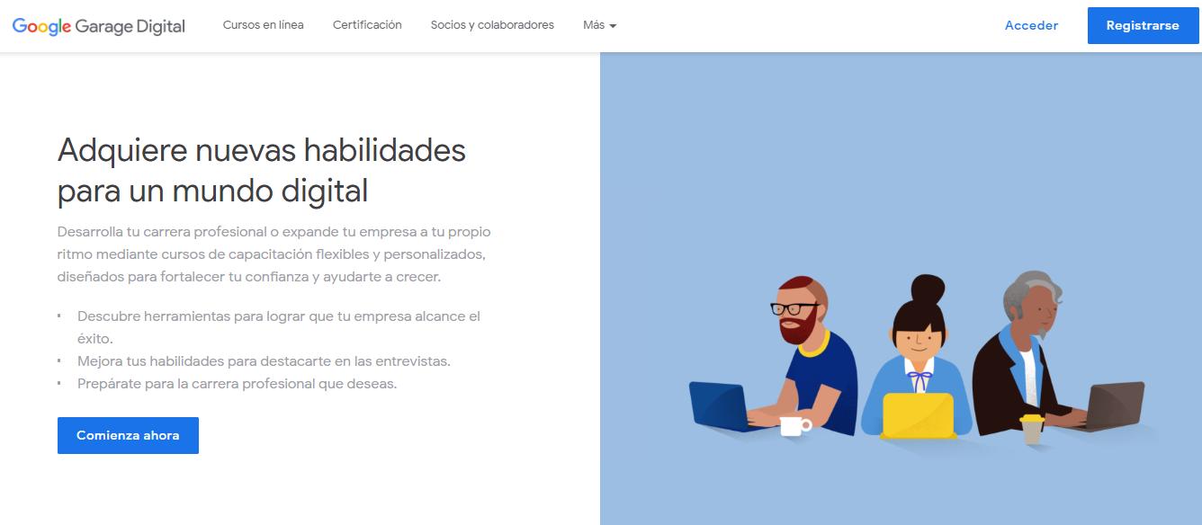 cursos y congresos gratuitos de marketing en Latinoamérica: Garaje Digital