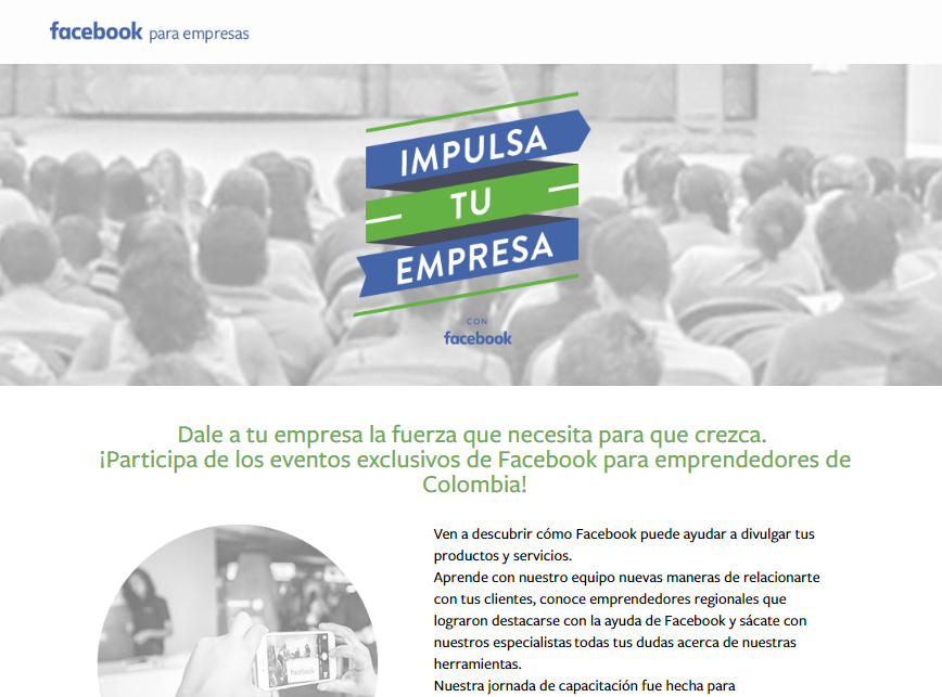 cursos y congresos gratuitos de marketing en Latinoamérica: Impulsa Facebook