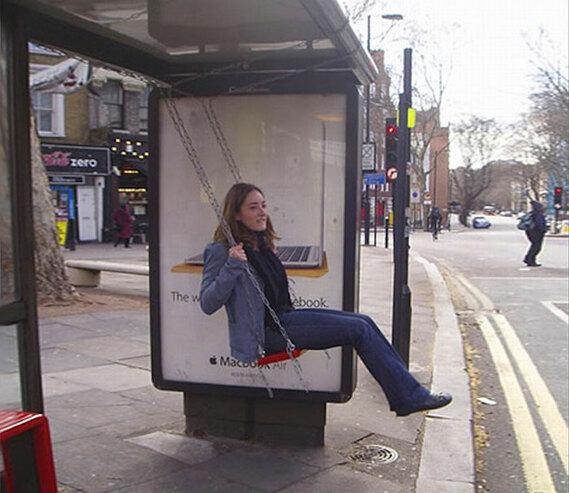 Street marketing en paradas de autobús