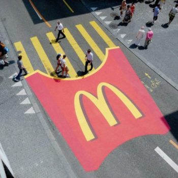 street marketing de McDonalds