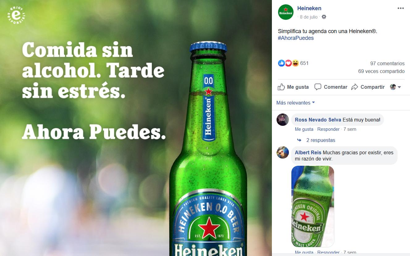Inbound marketing para la industria cervecera: Heineken Facebook