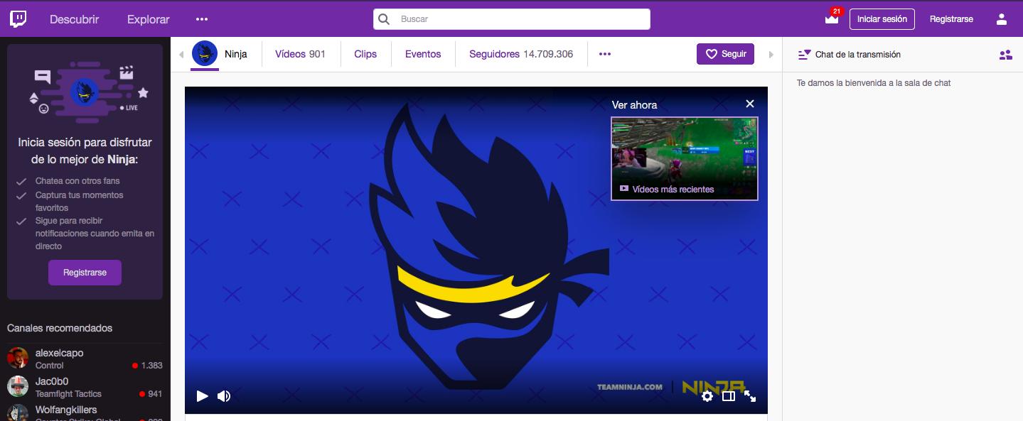 El caso Ninja: Twitch