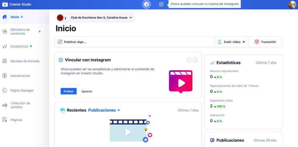 programar contenidos en Instagram con Creator Studio
