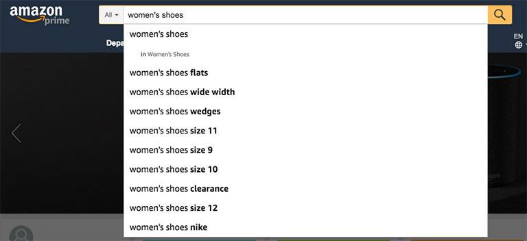 búsquedas de Amazon