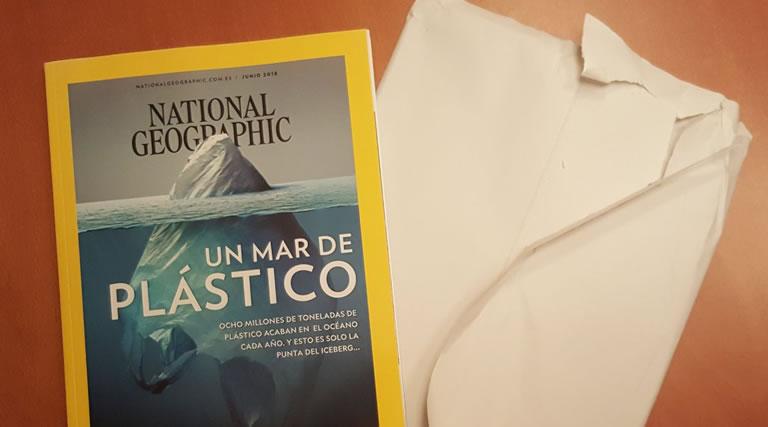 marketing del plástico: National Geographic