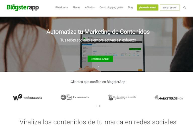 herramientas para community managers: Blogsterapp