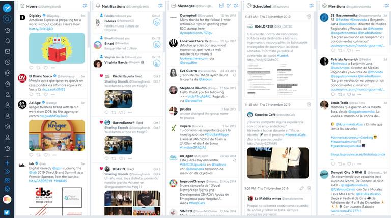 herramientas para community managers: Tweetdeck