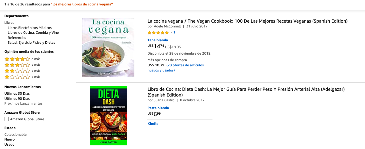 ficha de producto para Amazon