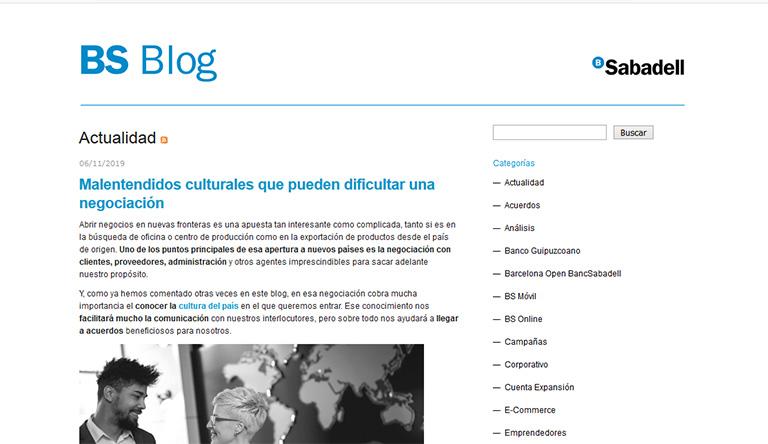 blogs de marcas que trabajan el branded content: Banco Sabadell
