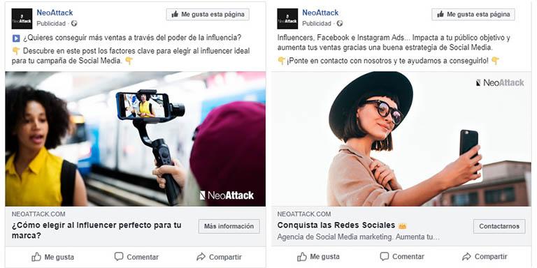 redactar textos para Facebook Ads