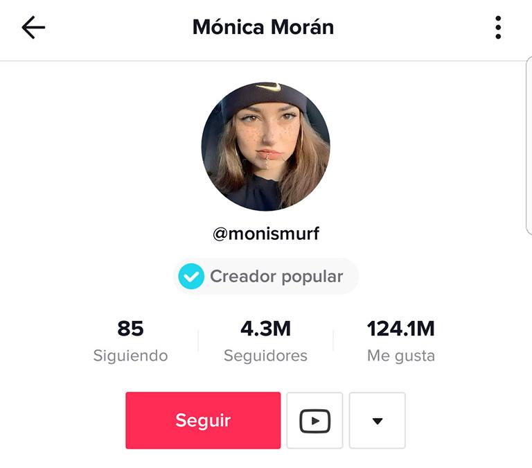 influencers de Tik Tok: Mónoca Morán