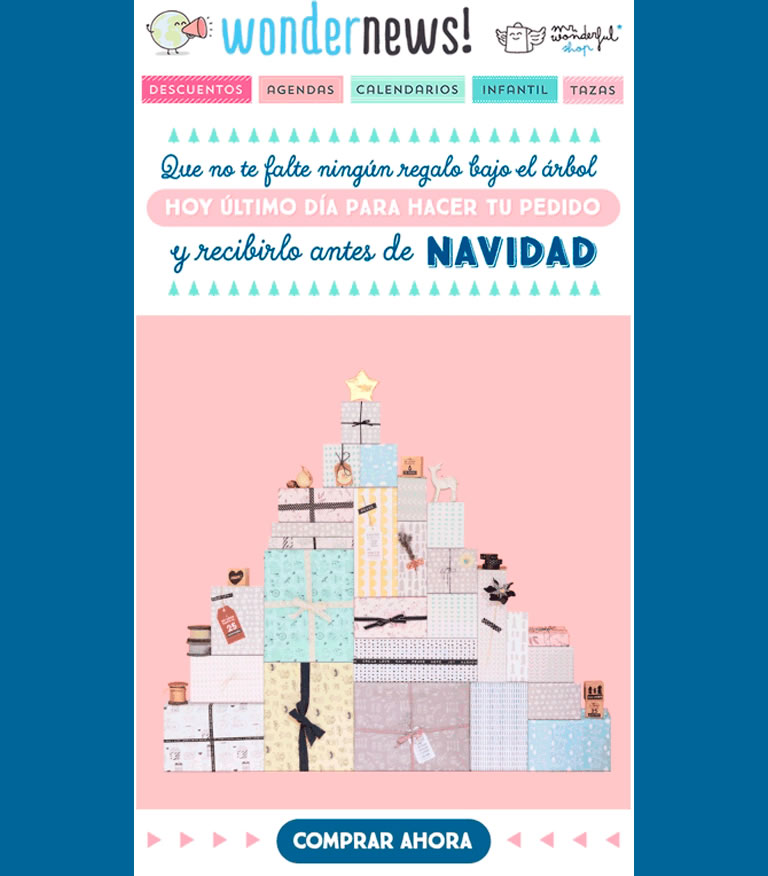 Email Marketing para Navidad: Mr. Wonderful