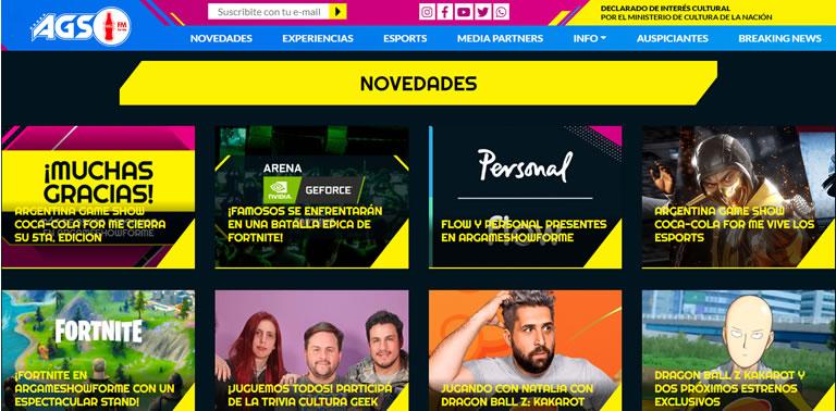 Eventos de esports & gaming en Latam en 2020: Argentina Game Show