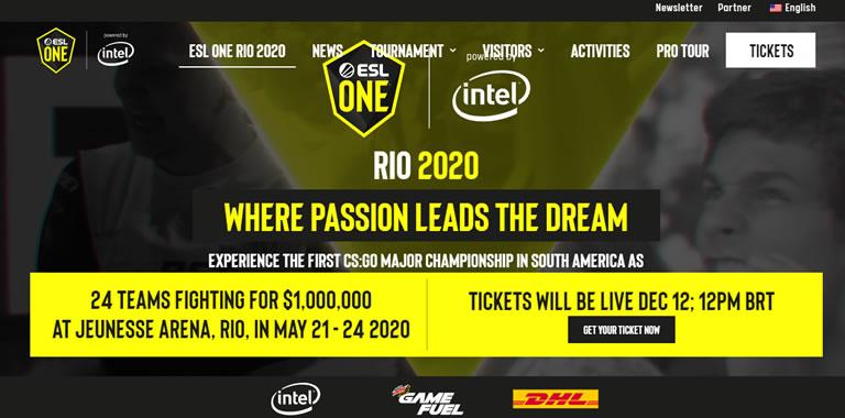 Eventos de esports & gaming en Latam en 2020: ESL Río 2020