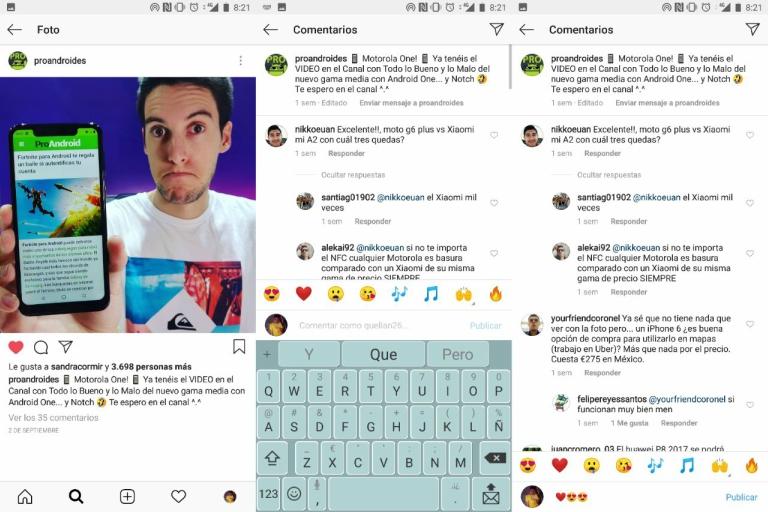 Contestar comentarios en Instagram