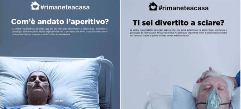 Impactante campaña italiana sobre el COVID 19