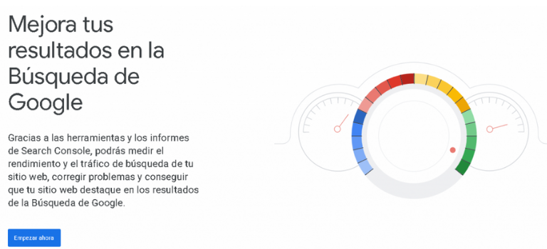 Plataforma de Google Search Console