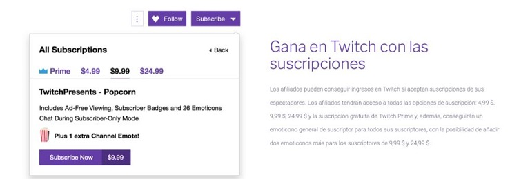 Ganar suscriptores en Twitch