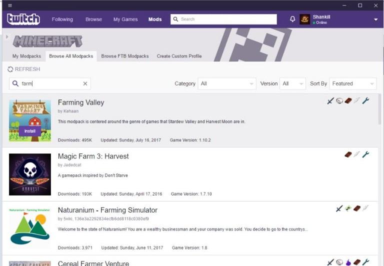 Minecraft en Twith