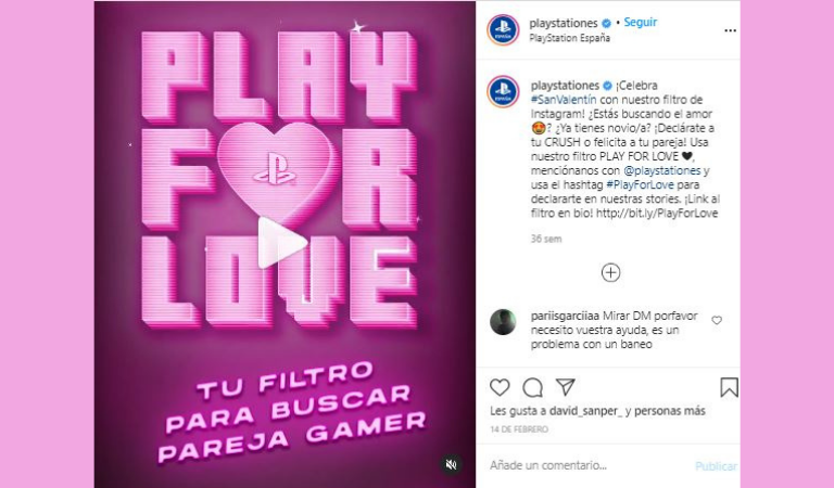 Campañas Gaming 2020: Play For Love