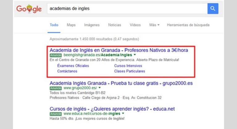 Función y localización de anuncios de Google