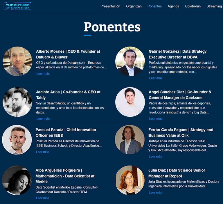 Ponentes The Future of Data
