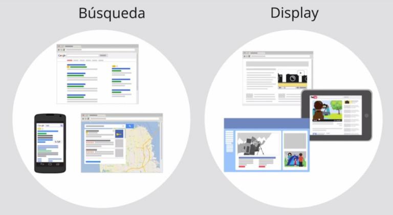Campañas de búsqueda y display