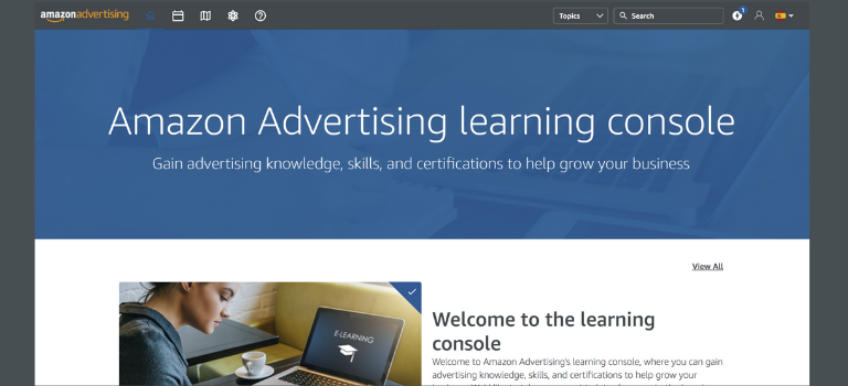 Qué es Amazon Advertising Learning Console