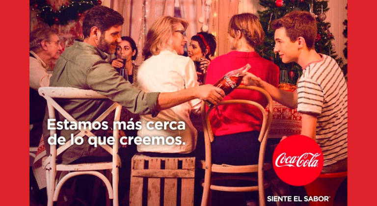 Mensaje navideño de Coca Cola