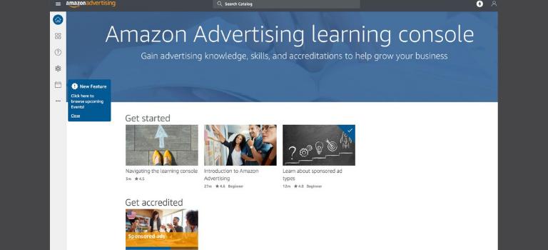Página de Amazon Advertising